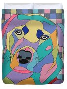 Colorful Dog Bear Duvet Cover