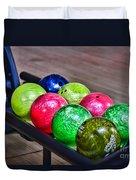 Colorful Bowling Balls Duvet Cover