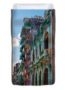 Colorful Buildings In Havana Duvet Cover