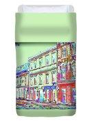 Colorful Buildings Duvet Cover