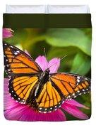 Orange Viceroy Butterfly Duvet Cover