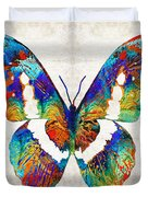 Colorful Butterfly Art By Sharon Cummings Duvet Cover