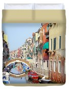 Colorful Canal Duvet Cover