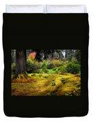 Colorful Carpet Of Moss In Benmore Botanical Garden Duvet Cover