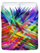 Colorful Cattails Duvet Cover