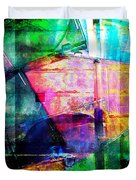 Colorful Cd Cases Collage Duvet Cover