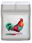 Colorful Chicken Duvet Cover