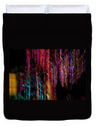 Colorful Christmas Streaks - Abstract Christmas Lights Series Duvet Cover