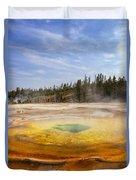 Colorful Chromatic Geyser In Upper Geyser Basin Duvet Cover