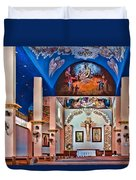 Colorful Church Duvet Cover