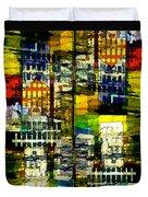 Colorful City Scene Duvet Cover