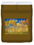 Colorful Colorado Autumn Aspen Trees Duvet Cover
