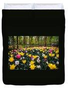 Colorful Corner Of The Keukenhof Garden 1. Tulips Display. Netherlands Duvet Cover