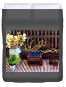Colorful Country Still Life Duvet Cover