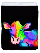 Colorful Cow-cow-a-bunga Duvet Cover by Nick Gustafson