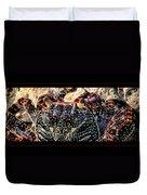 Colorful Crab Duvet Cover