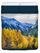 Colorful Crested Butte Colorado Duvet Cover