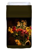 Colorful Cut Flowers In A Vase Duvet Cover
