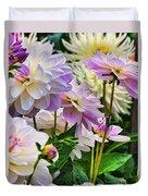 Colorful Dahlia Garden Duvet Cover