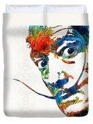 Colorful Dali Art By Sharon Cummings Duvet Cover