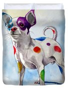 Colorful Dalmatian Chihuahua Duvet Cover