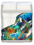 Colorful Dog Art - Loving Eyes - By Sharon Cummings  Duvet Cover