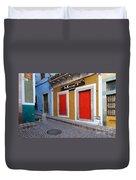 Colorful Doors Guanajuato Mexico Duvet Cover