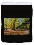 Colorful Fall Autumn Park Duvet Cover