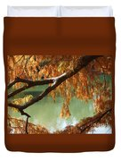 Colorful Fall Bald Cypress Duvet Cover