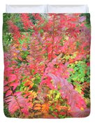Colorful Fall Leaves Autumn Crepe Myrtle Duvet Cover