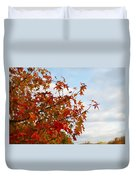 Colorful Fall Leaves Duvet Cover