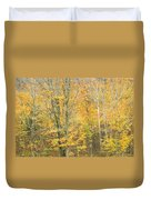Colorful Fall Trees In Maine Duvet Cover