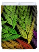 Colorful Feather Fern - Abstract - Fractal Art - Square - 1 Tl Duvet Cover