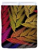 Colorful Feather Fern - Abstract - Fractal Art - Square - 2 Tr Duvet Cover