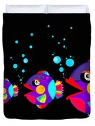 Colorful Fish Creation Duvet Cover