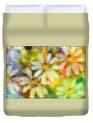 Colorful Floral Abstract II Duvet Cover