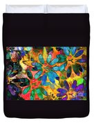 Colorful Floral Abstract IIi Duvet Cover
