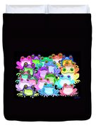 Colorful Frogs Duvet Cover