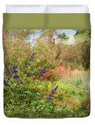 Colorful Garden In Spring Duvet Cover