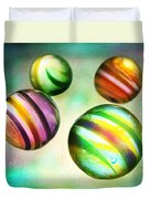 Colorful Glass Marbles Duvet Cover