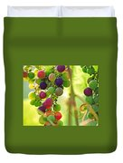 Colorful Grapes Duvet Cover