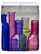 Colorful Group Of Bottles Duvet Cover
