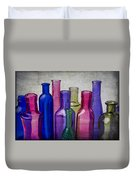 Colorful Group Of Bottles Duvet Cover