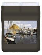Colorful Harbor II Impasto Duvet Cover