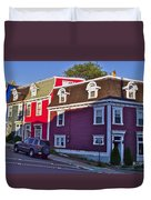 Colorful Homes In Saint John's-nl Duvet Cover
