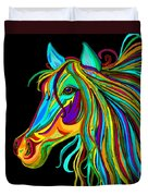Colorful Horse Head 2 Duvet Cover