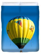 Colorful Hot Air Balloon Over Vermont Duvet Cover