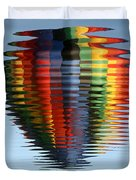 Colorful Hot Air Balloon Ripples Duvet Cover