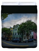 Colorful Houses Duvet Cover