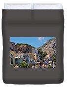 Colorful Houses In Capri Duvet Cover